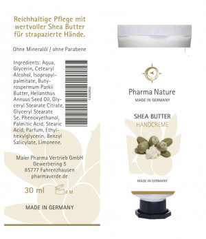 Shea Butter Handcreme von Pharma Nature